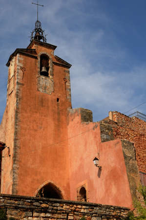 roussillon: France, the church of Roussillon in Provence