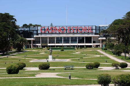 Portugal, het Estoril casino Stockfoto