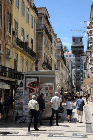 justa: Portugal, the Santa Justa lift in Lisbon Editorial