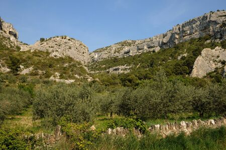 fontaine: France, the village of Fontaine de Vaucluse in Provence Stock Photo