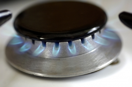 horizontal picture of a gas stove Stock Photo - 18475300