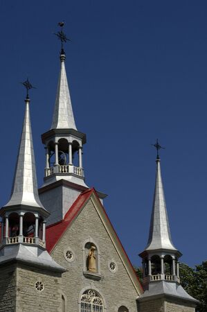 pierre: Canada, Quebec, Saint Pierre church in Orleans Island Editorial
