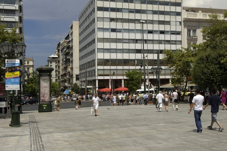 syntagma: Greece, Syntagma square in the city of Athenes