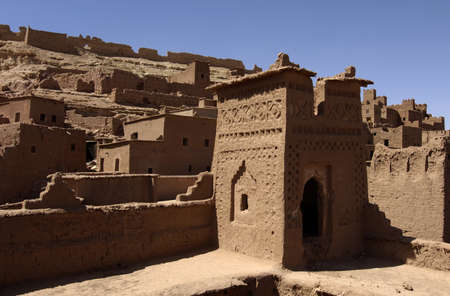 fortified: Morocco, Ait Ben Addou, a ksar in the desert