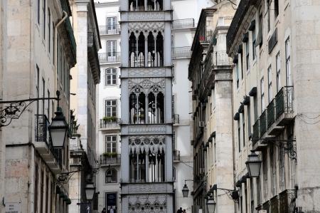 justa: Portugal, the Santa Justa lift in Lisbon Stock Photo