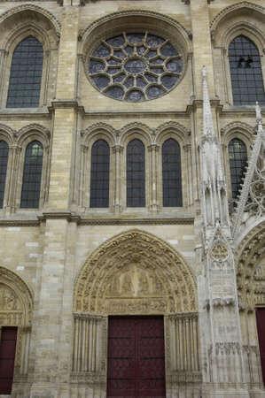 collegiate: Ile de France, collegiate church of Mantes Stock Photo