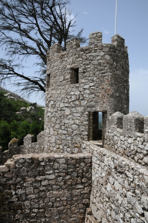 historica: Portugal, the moorish castle in Sintra Editorial