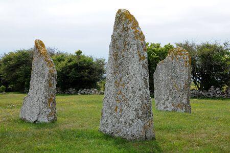 neolithic: Suecia, piedras neol�ticas en Seby Foto de archivo