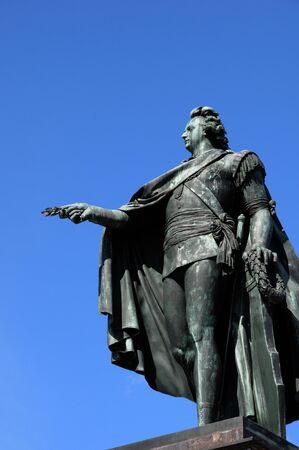 gustaf: Sweden, the bronze statue of the king Gustaf 3 in Stockholm