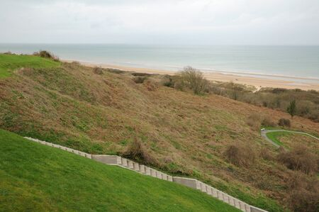 Omaha Beach in  Colleville sur Mer in Normandy photo