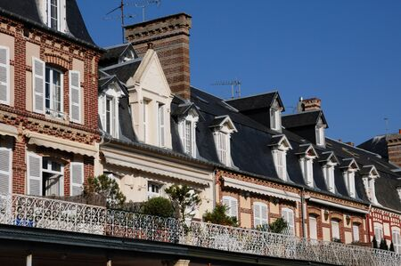 France, picturesque old house in Deauville in Normandie