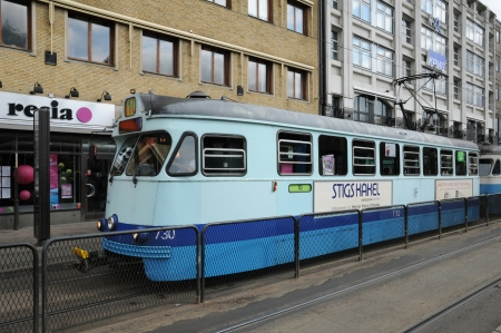 tramway: Sweden, tramway in the city of Goteborg Editorial