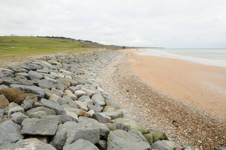 omaha: Omaha Beach in  Colleville sur Mer in Normandy