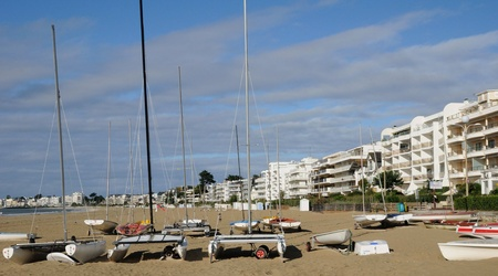 pays: France, the front sea of La Baule Escoublac