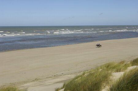 France, the seaside of Le Touquet Paris Plage in Nord Pas de Calais