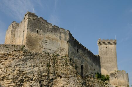roussillon: castle of Beaucaire in Languedoc Roussillon  Editorial
