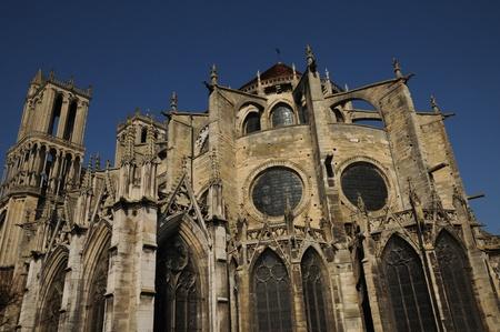 collegiate: Ile de France, collegiate church of Mantes Editorial