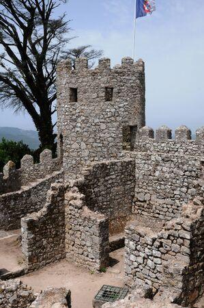 historica: Portugal, the moorish castle in Sintra Editorial