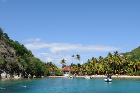France,  the seaside of Les Saintes in Guadeloupe