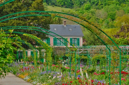 France, the Monet house in Giverny in Normandie Stock Photo