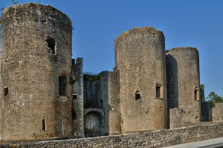 gironde: France, the medieval castle of Villandraut in Gironde Editorial