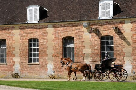 France, le Haras National du Pin in Normandie