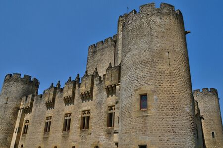 France, the medieval castle of Roquetaillade in Gironde