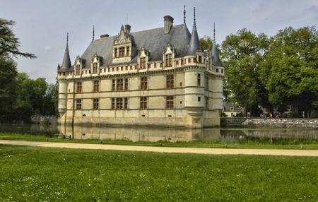 touraine: France, the renaissance castle of Azay le Rideau in Touraine
