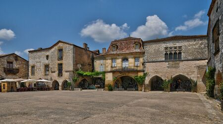 France, the village of Monpazier in Perigord photo