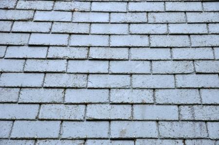 close-up van leien op een dak Stockfoto