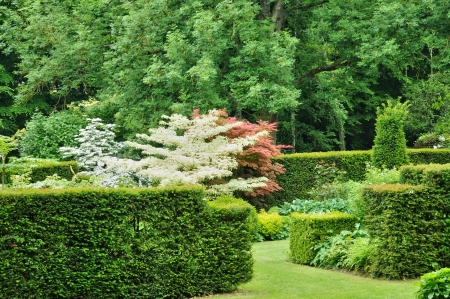 France, Les Jardins du Pays d Auge in Cambremer in Normandie Stock Photo