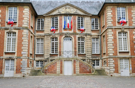municipality: France, the city hall of Pont l Eveque in Normandie