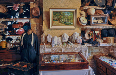 antiquary: France, old objects in an attic in Normandie