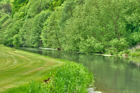 haute: France, Andelle river in Radepont in Haute Normandie