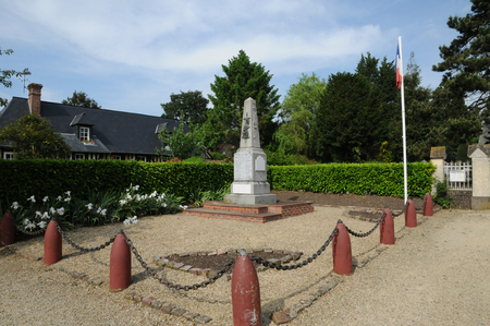 en: France, the war memorial of Beuvron en Auge in Normandie Editorial