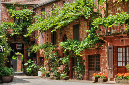 France, the picturesque village of Collonges la Rouge