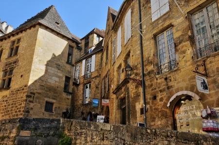 Frankrijk, de pittoreske stad Sarlat in de Dordogne