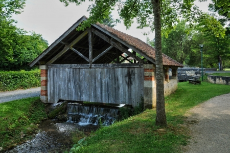 washhouse: France, a washhouse in the village of Saint Genies in Dordogne Stock Photo