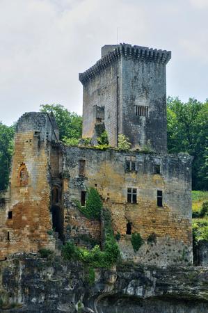 France, the picturesque castle of Commarque in Dordogne Stok Fotoğraf
