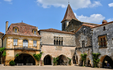 France, the village of Monpazier in Perigord 版權商用圖片
