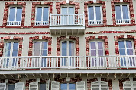basse normandy: France, the historical city Villers sur Mer in Normandie Editorial