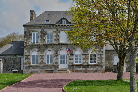 municipality: France, the city hall of Courtils in Normandie Editorial