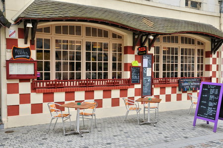 basse normandy: France, a restaurant in Villers sur Mer in Normandie