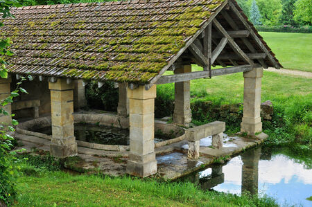 washhouse: France, washhouse in the picturesque village of Carsac Stock Photo