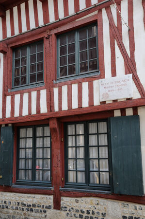 basse normandy: France, the house of Erik Satie in Honfleur