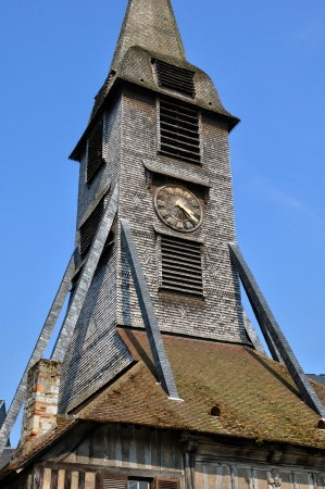 catherine: France, bell tower of the Sainte Catherine church of Honfleur in Normandy Stock Photo