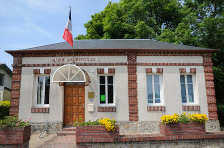 France, the city hall of Auberville in Normandie