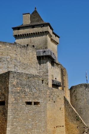 ramparts: France, the picturesque castle of Castelnaud in Dordogne