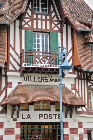 basse normandy: France, the old post office of Villers sur Mer in Normandie Editorial