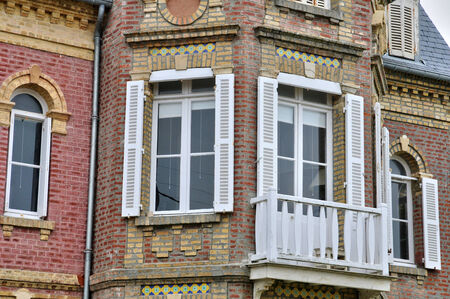 basse normandy: France, the historical city Villers sur Mer in Normandie Stock Photo